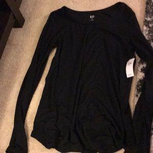 Gap black long sleeve loose soft shirt